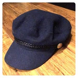 H&M Navy Blue Cabby Hat